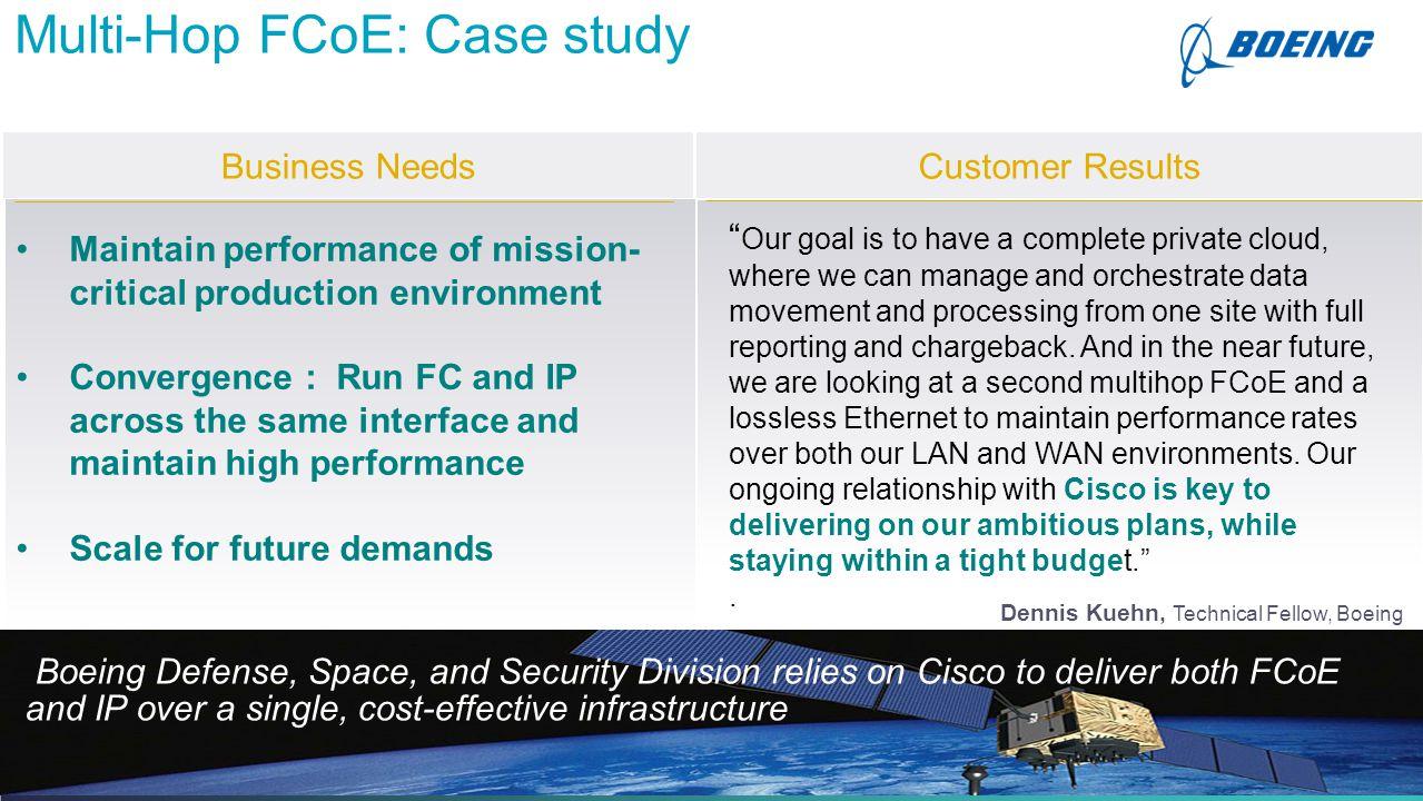 Multi-Hop FCoE: Case study