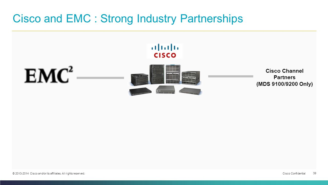 Cisco and EMC : Strong Industry Partnerships
