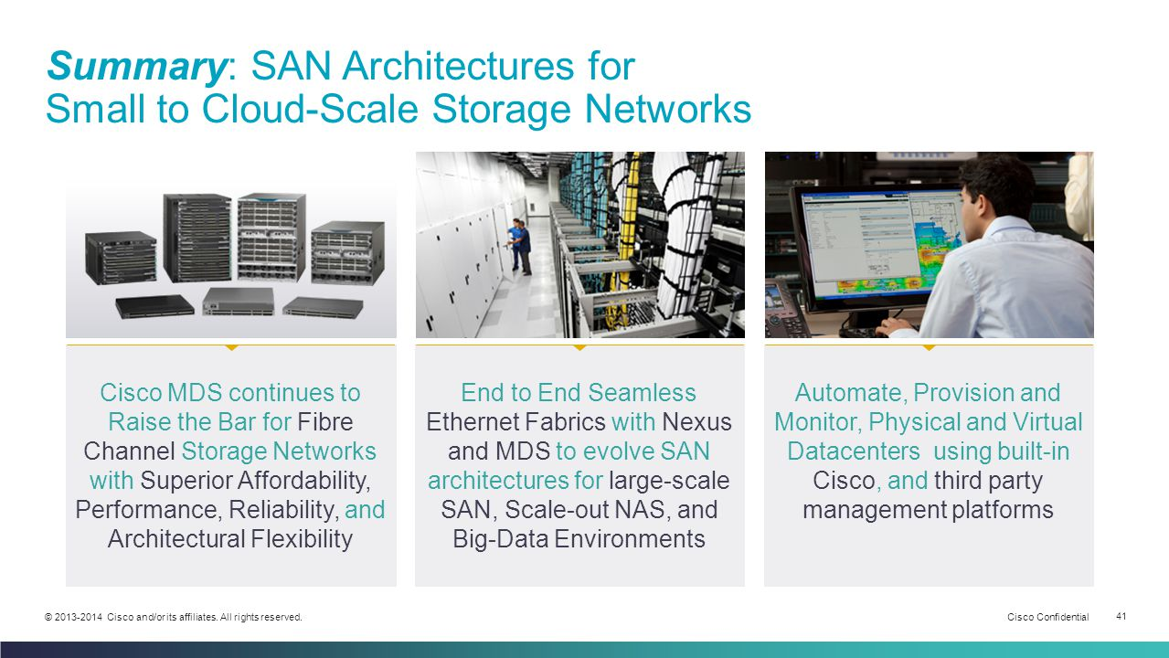 Summary: SAN Architectures for Small to Cloud-Scale Storage Networks