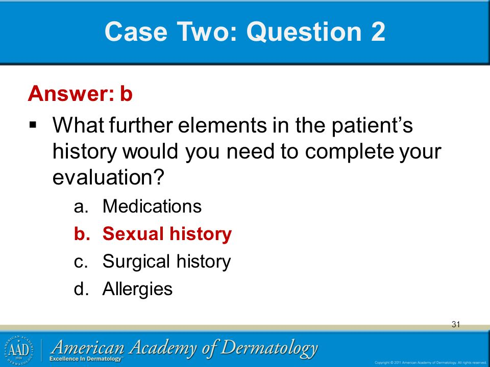 Case Two: Question 2 Answer: b