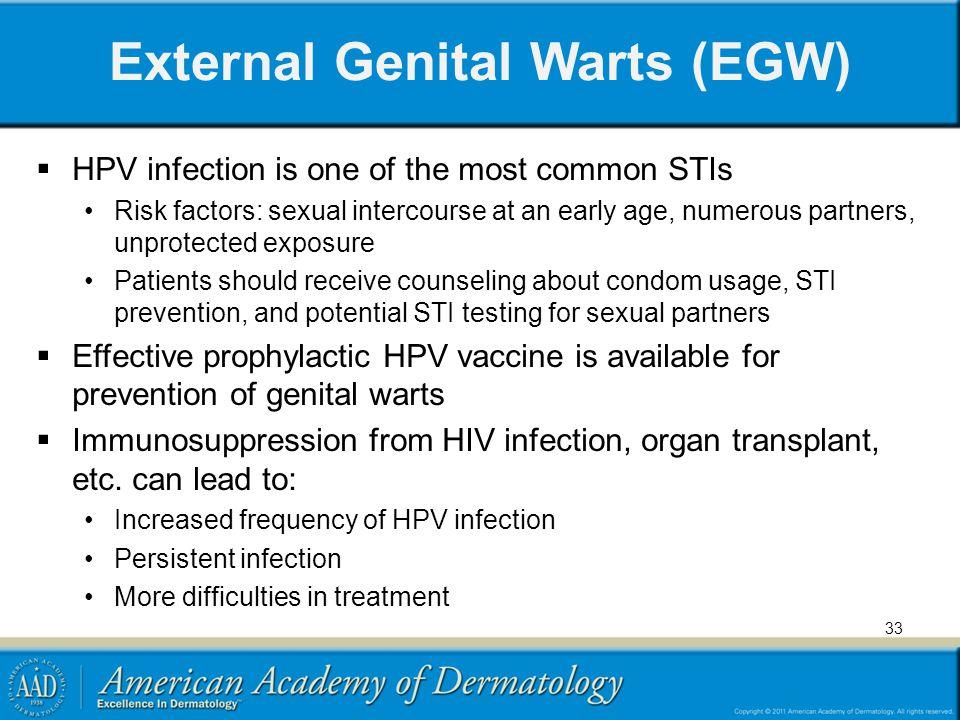 External Genital Warts (EGW)