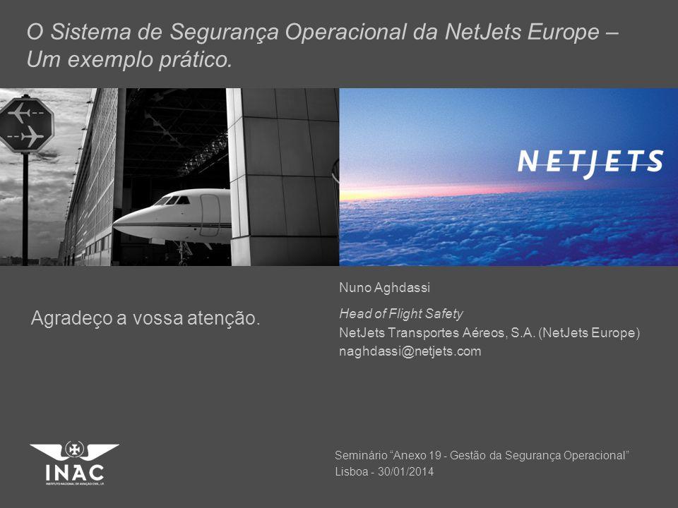 O Sistema de Segurança Operacional da NetJets Europe – Um exemplo prático.