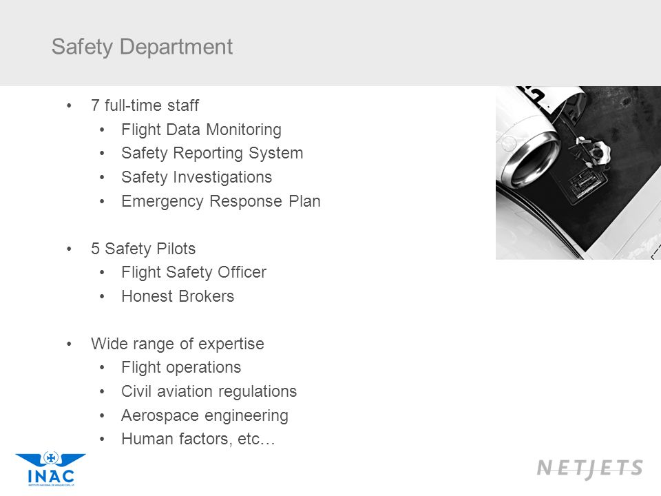 Safety Department 7 full-time staff Flight Data Monitoring