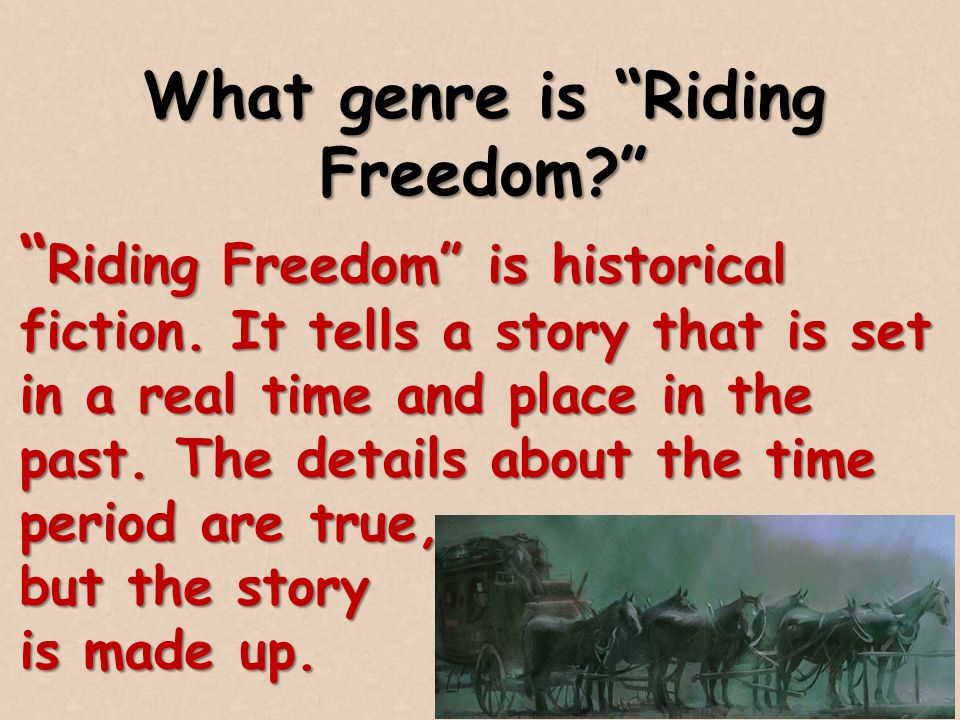 What genre is Riding Freedom
