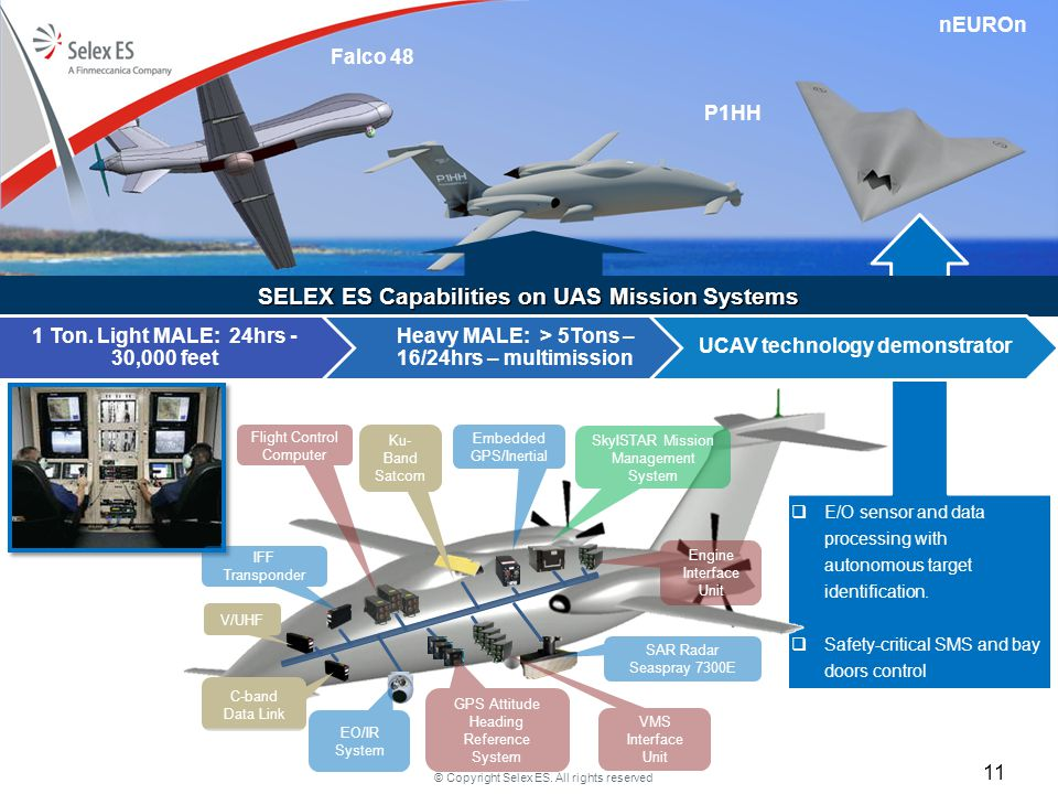 SELEX ES Capabilities on UAS Mission Systems