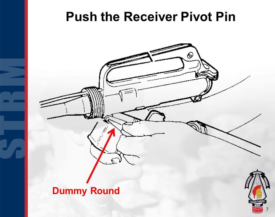 Push the Receiver Pivot Pin