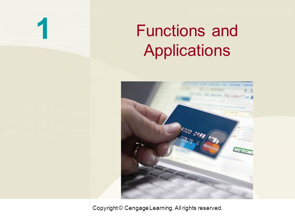 1 Functions and Applications