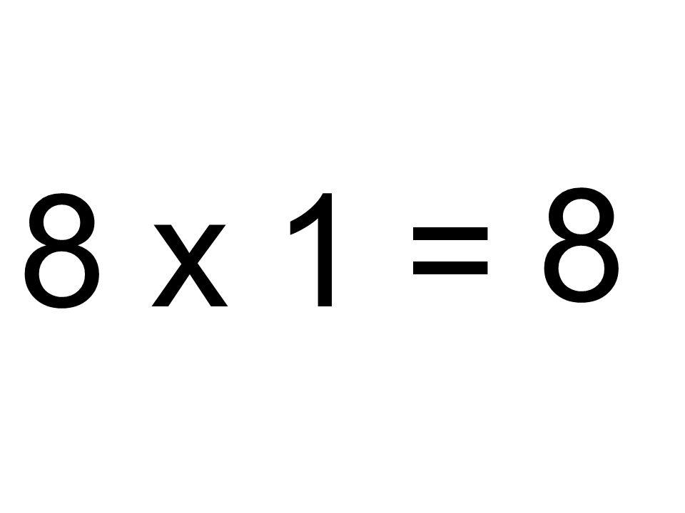 8 8 x 1 =