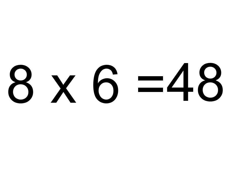 48 8 x 6 =