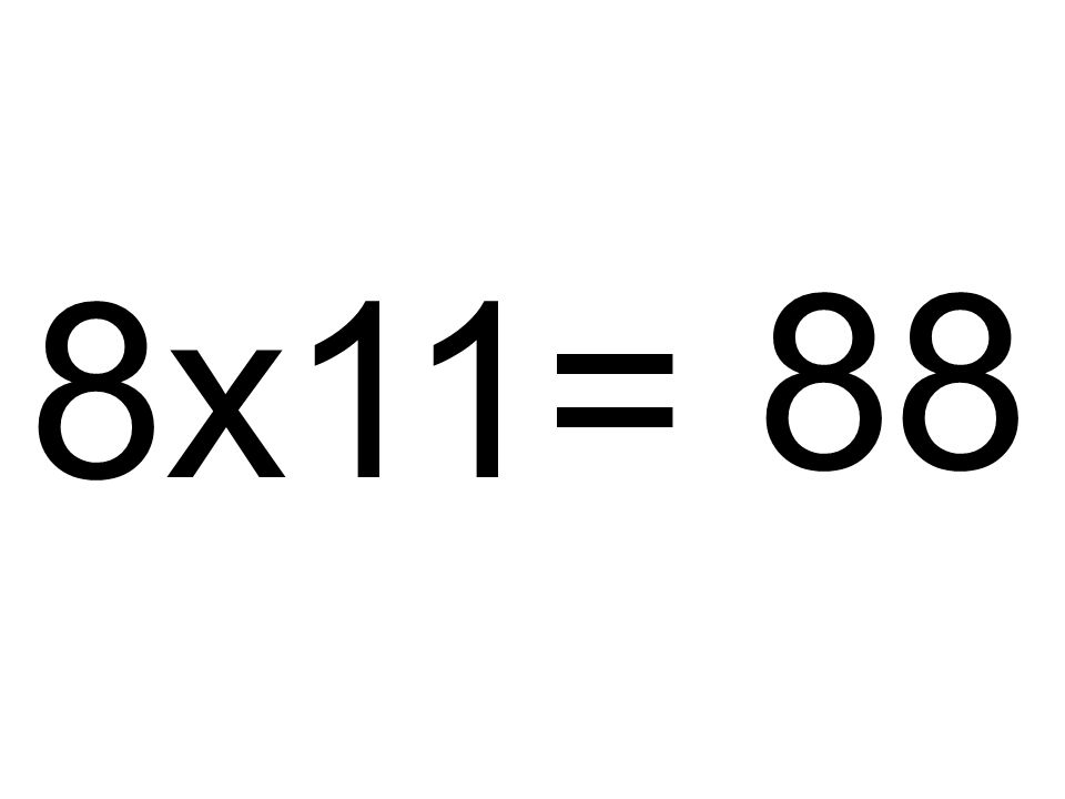 88 8x11=