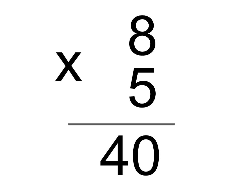 8 x 5 40