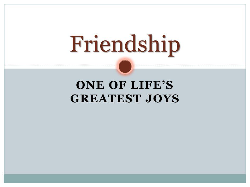 One of Life's Greatest Joys