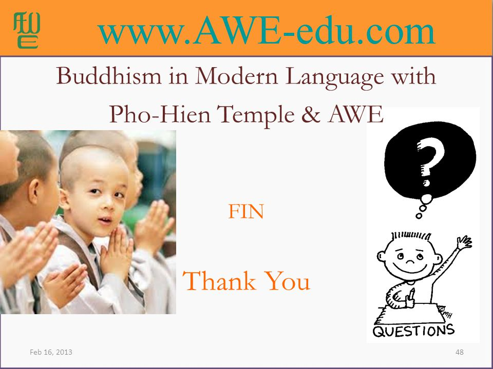 Buddhism in Modern Language with