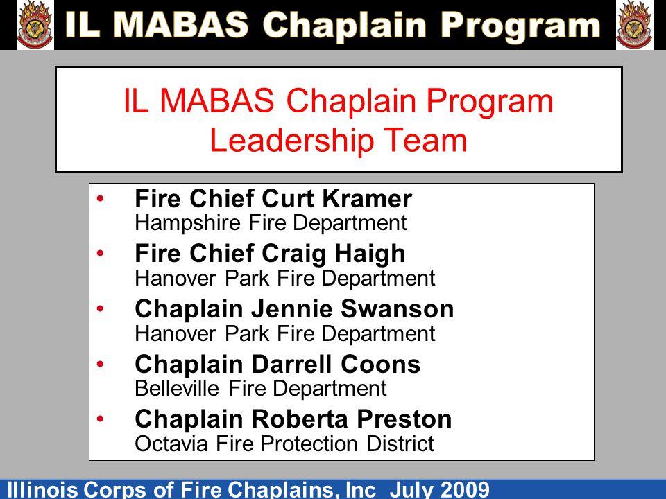 IL MABAS Chaplain Program Leadership Team