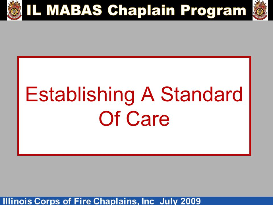 Establishing A Standard Of Care