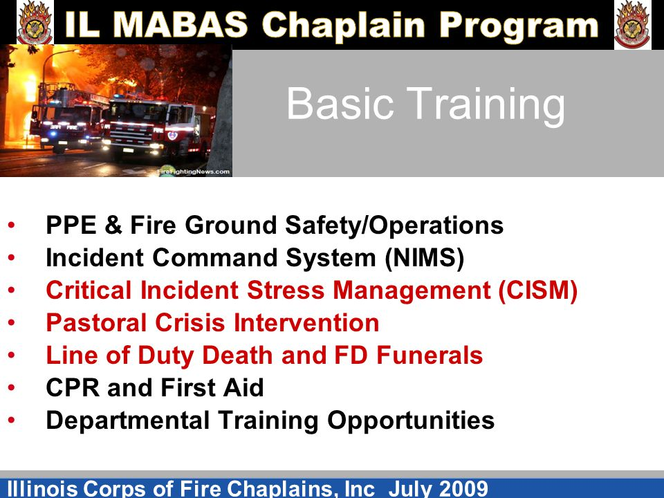 Basic Training PPE & Fire Ground Safety/Operations