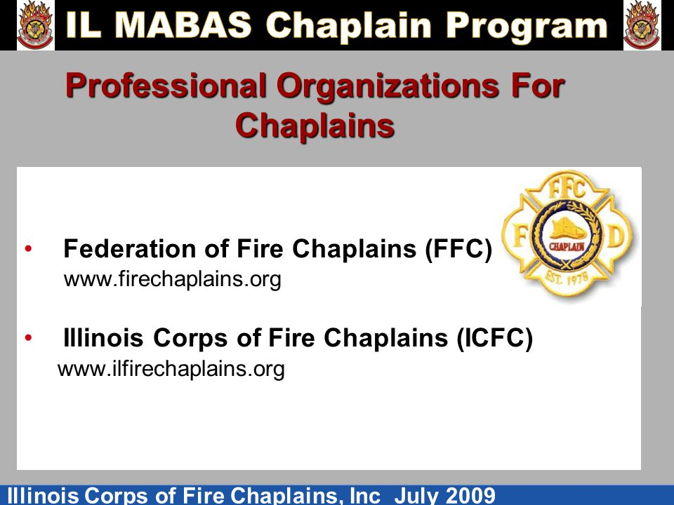 Professional Organizations For Chaplains