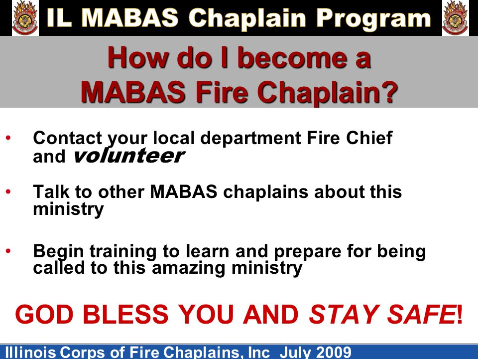 How do I become a MABAS Fire Chaplain