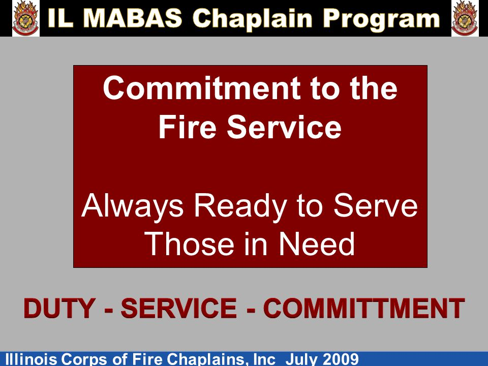 DUTY - SERVICE - COMMITTMENT