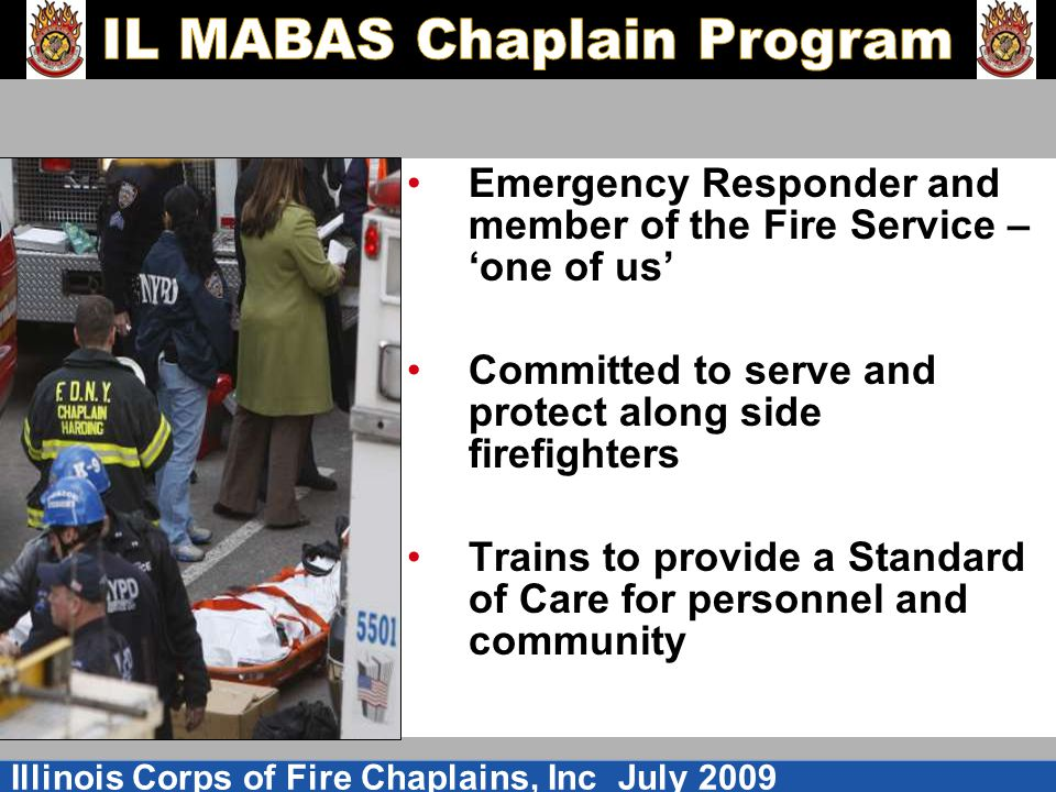 Emergency Responder and member of the Fire Service – 'one of us'