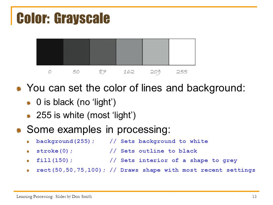 Color: Grayscale You can set the color of lines and background: