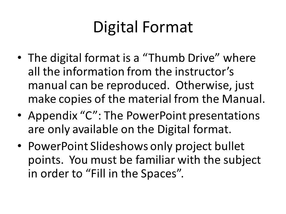 Digital Format