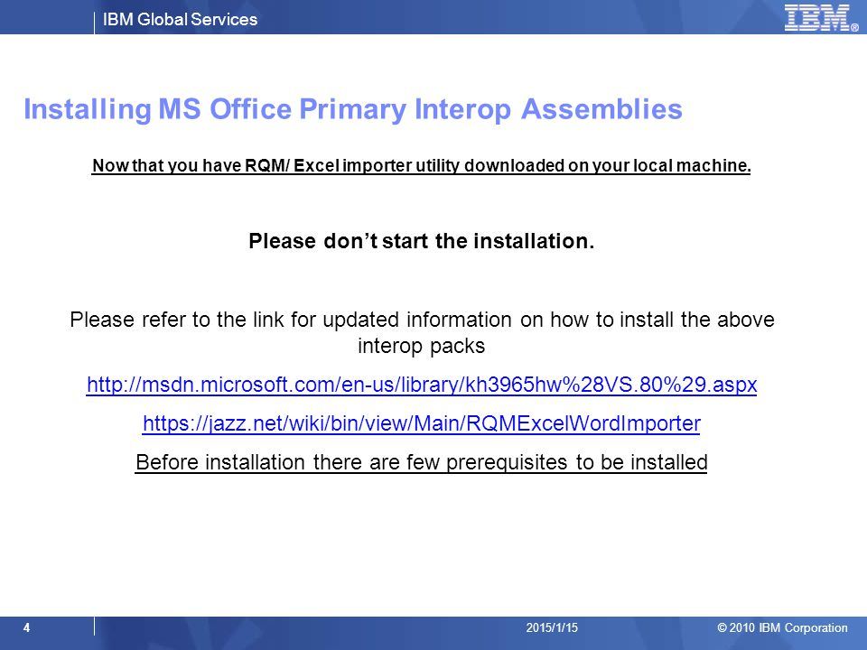 Installing MS Office Primary Interop Assemblies