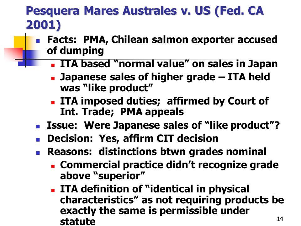 Pesquera Mares Australes v. US (Fed. CA 2001)