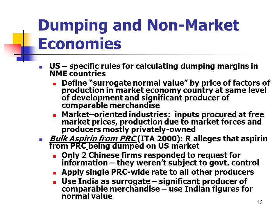 Dumping and Non-Market Economies