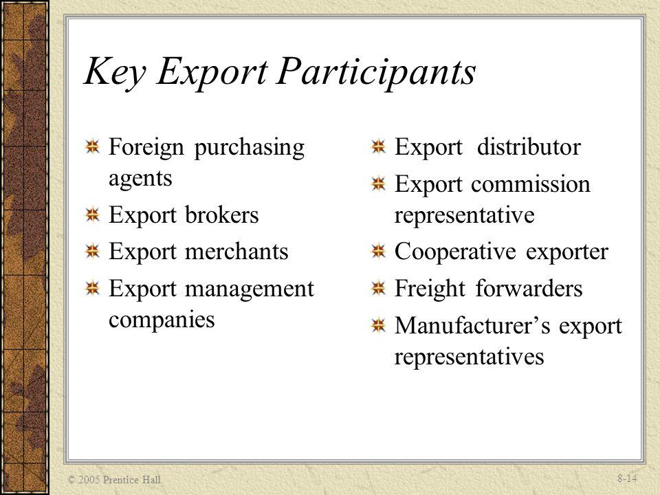 Key Export Participants