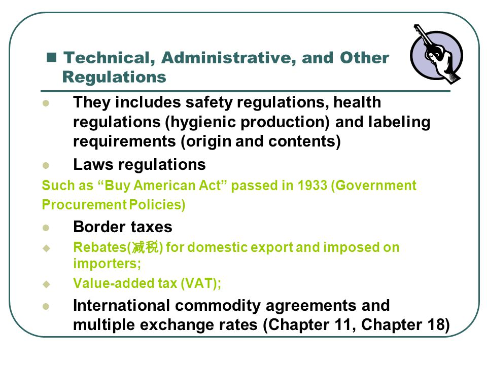 Technical, Administrative, and Other Regulations