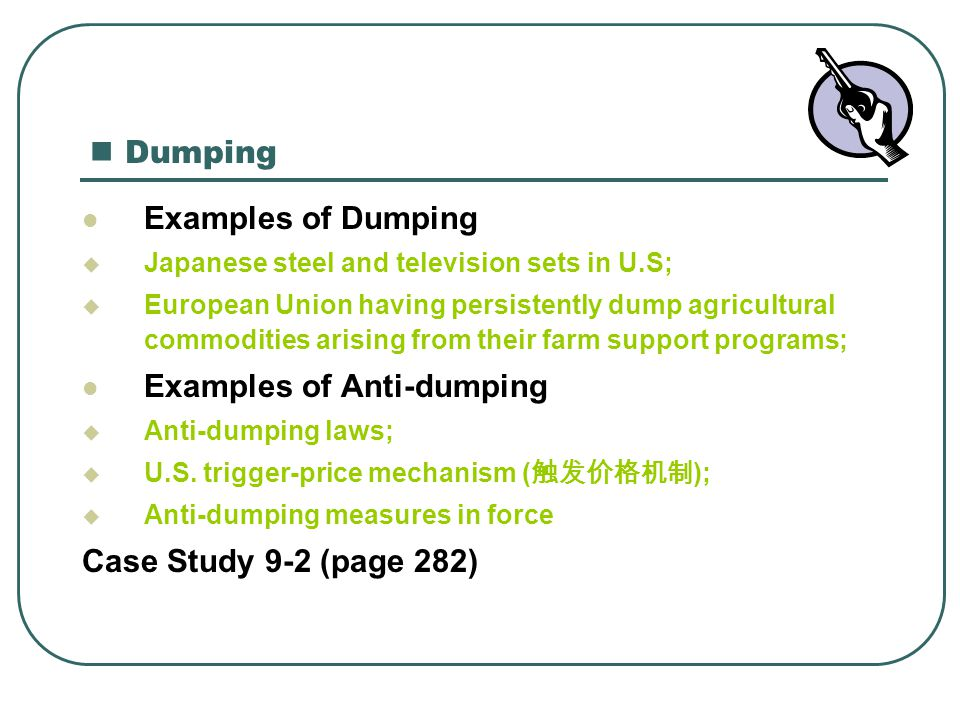 Examples of Anti-dumping