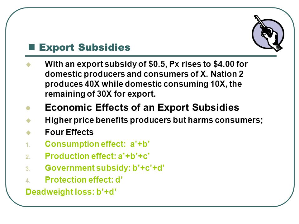 Economic Effects of an Export Subsidies