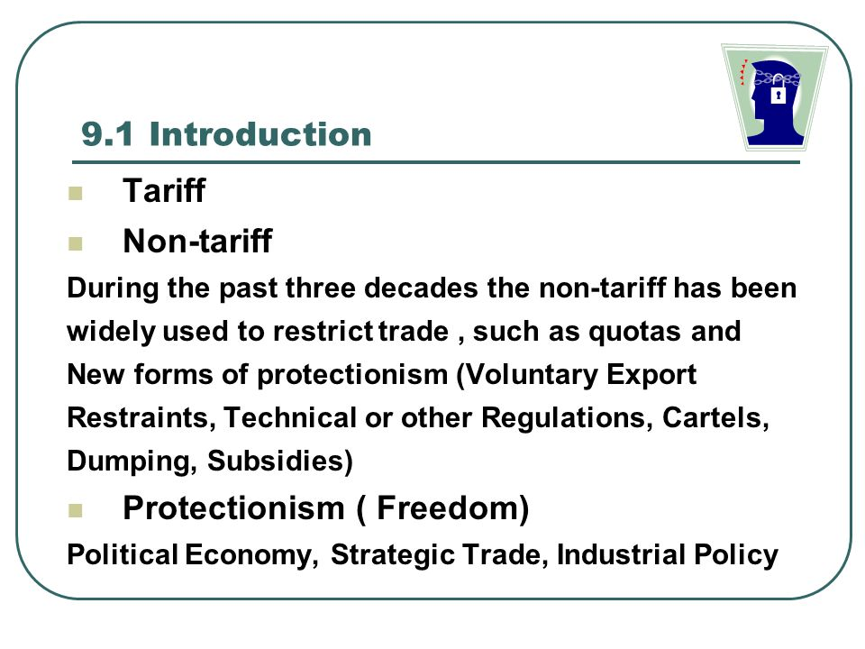 an introduction to the protectionism in international trade Direct instruments affect commodities as they enter international trade either as   it is not rare that nations introduce such restrictions not to prevent health.