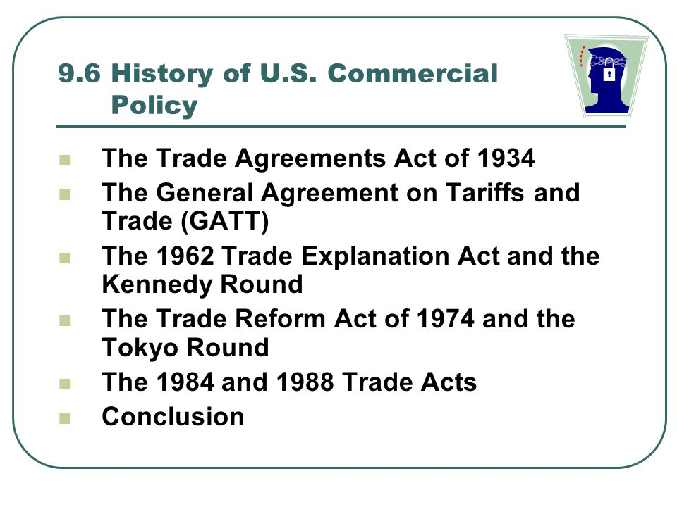 9.6 History of U.S. Commercial Policy