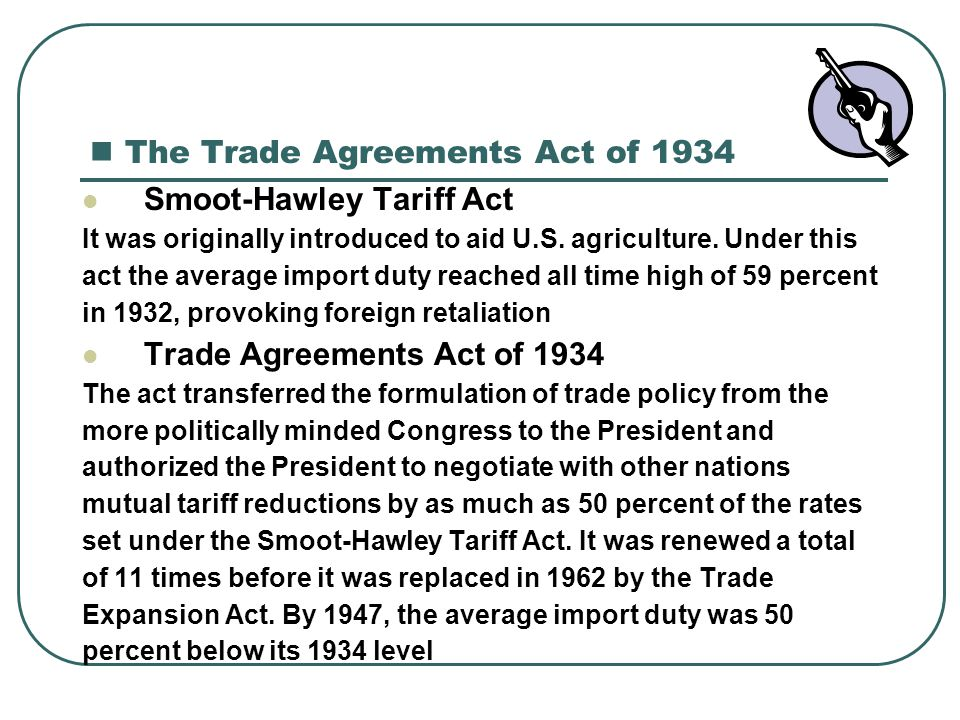 The Trade Agreements Act of 1934