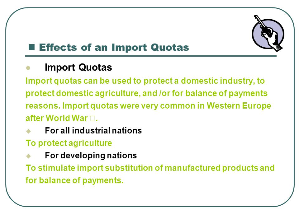 Effects of an Import Quotas