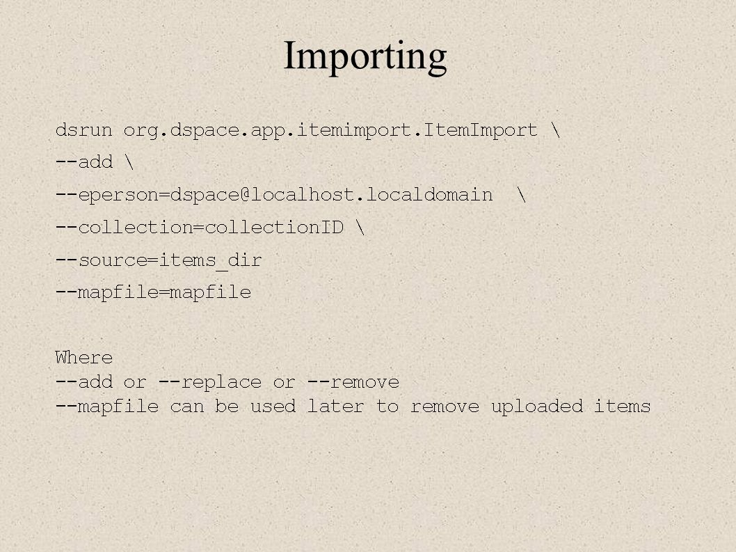 Importing