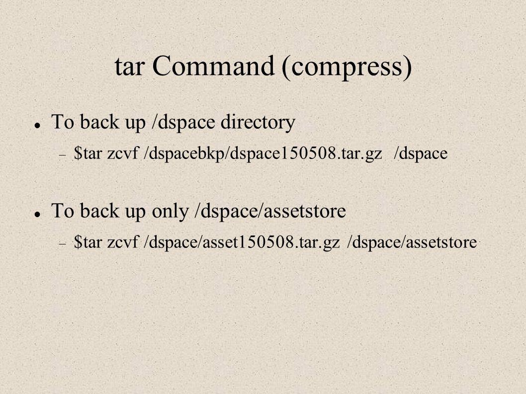 tar Command (compress)