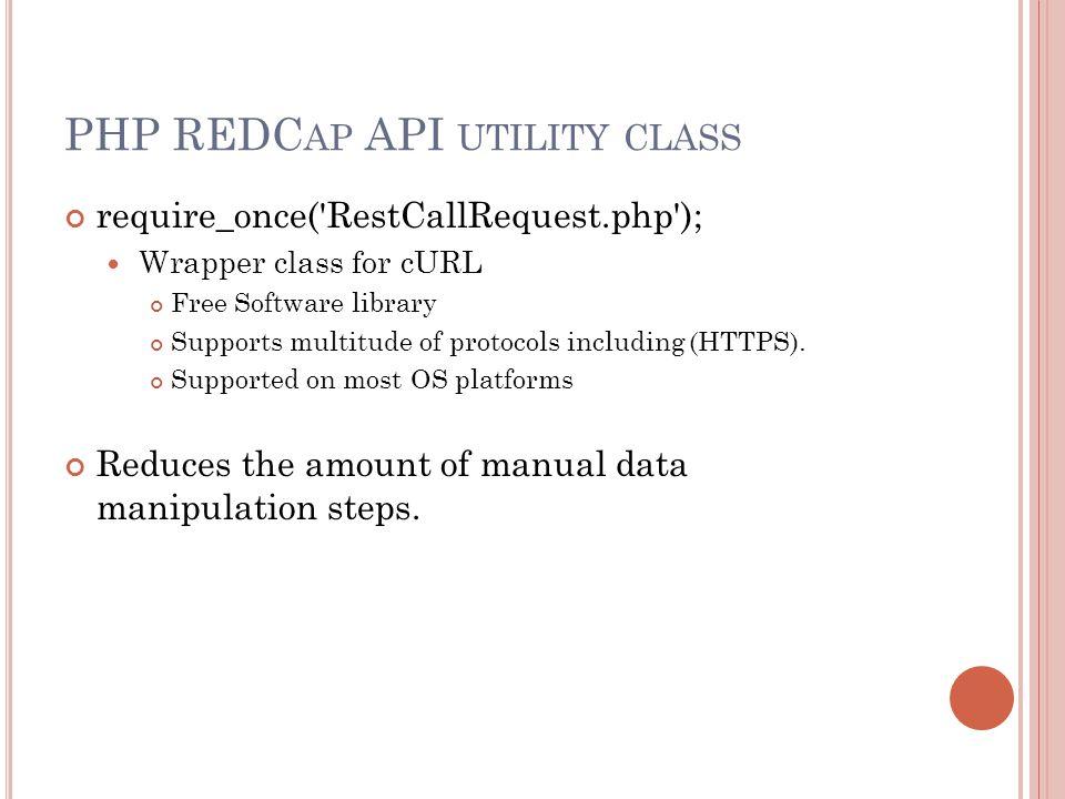 PHP REDCap API utility class