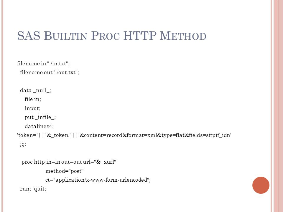 SAS Builtin Proc HTTP Method
