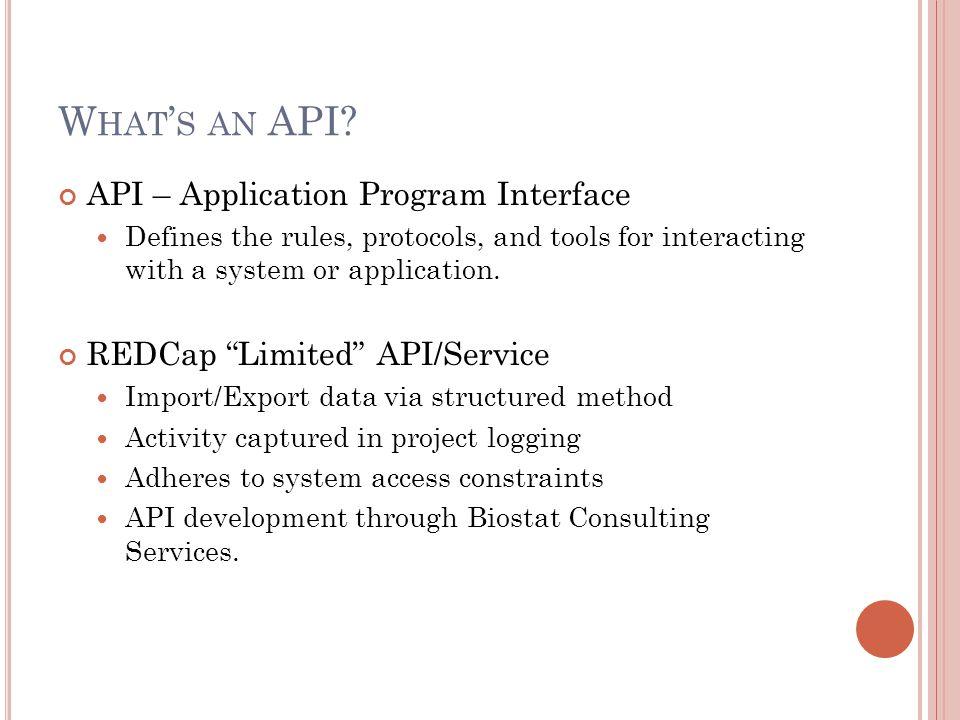 What's an API API – Application Program Interface