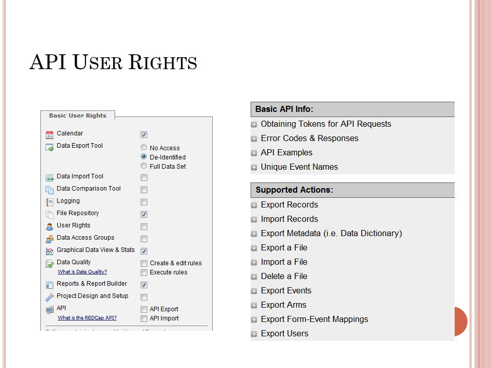 API User Rights