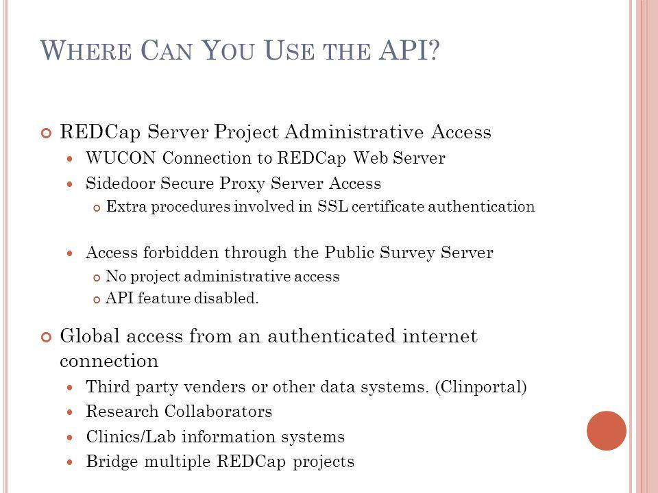 Where Can You Use the API