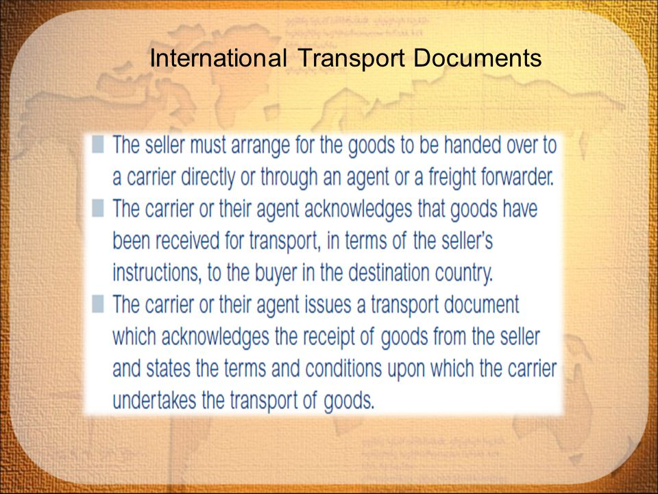 International Transport Documents