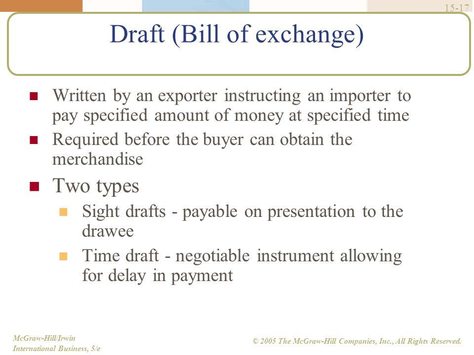 Draft (Bill of exchange)