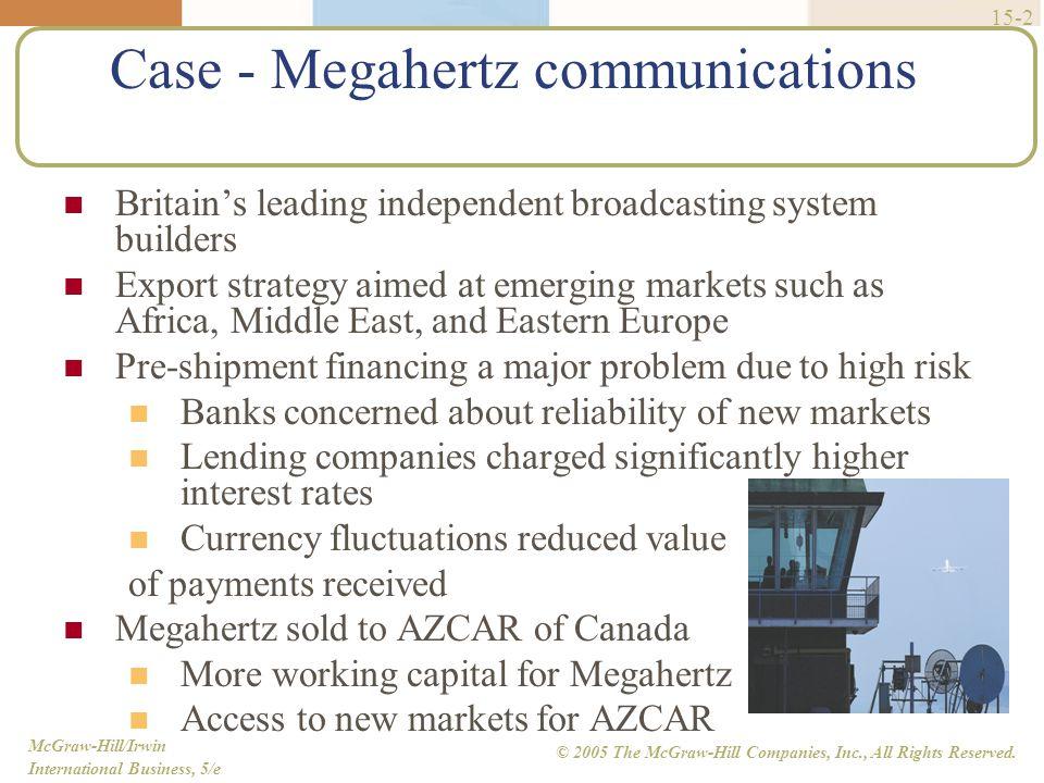 Case - Megahertz communications