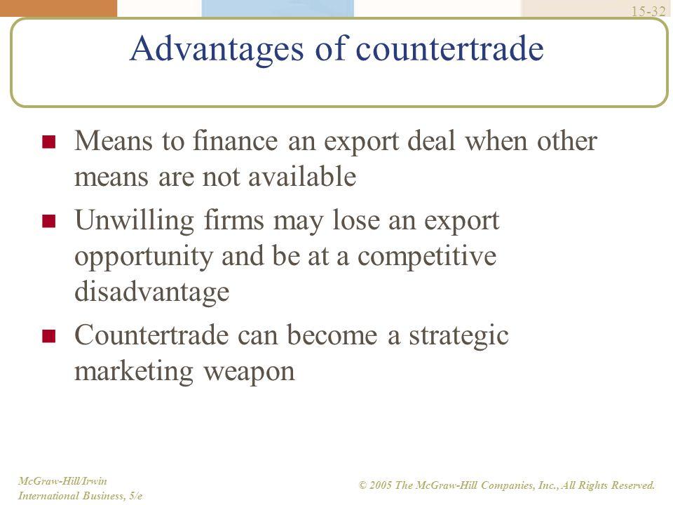 Advantages of countertrade