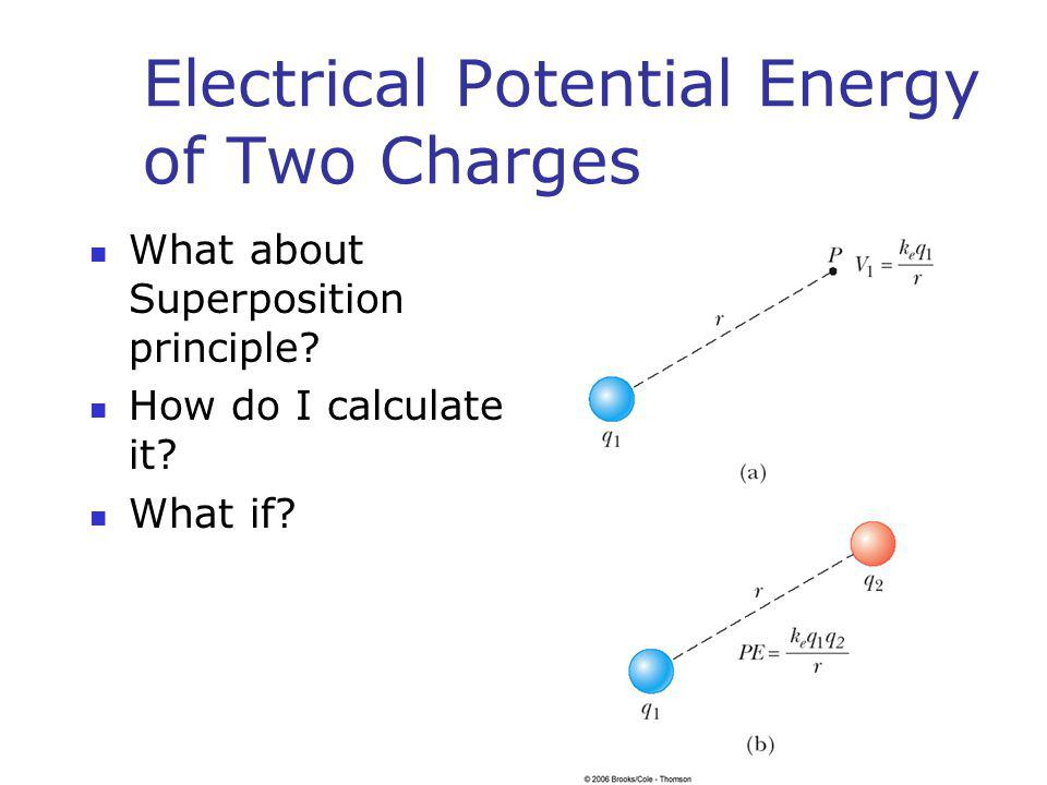 Electrical Potential Energy of Two Charges
