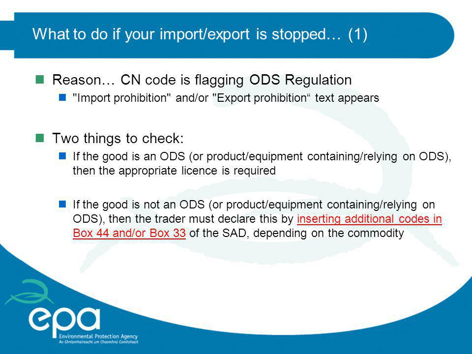 What to do if your import/export is stopped… (1)